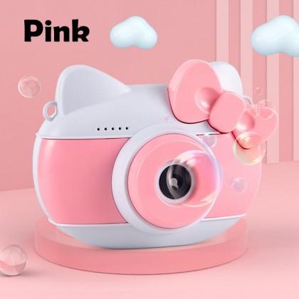 4GL Hello Kitty Bubble Camera Music Lights Bubble Gun Toys Toy Mainan Budak Included Battery And Bubble Liquid