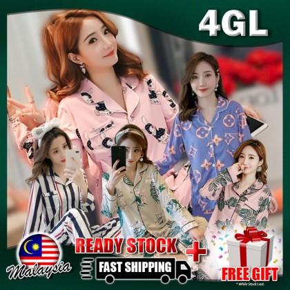 4GL Women FLORAL PYJAMAS Nightwear Sleepwear Pajamas Set Baju Tidur Tido Perempuan