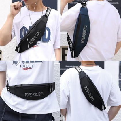4GL Moved For Lights Waist Bag Crossbody Bag Sling Bag Chest Bag Waist Pouch Beg