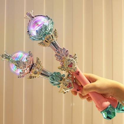 4GL Magic Princess Mace Lights Music Star Diamond Magic Wand Fairy Stick Queen Mace Toys Toy Mainan Budak