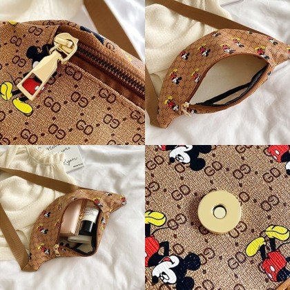 4GL GD MICKEY WAIST POUCH (SMALL) Crossbody Bag Sling Bag Chest Bag Waist Bag Beg A0816
