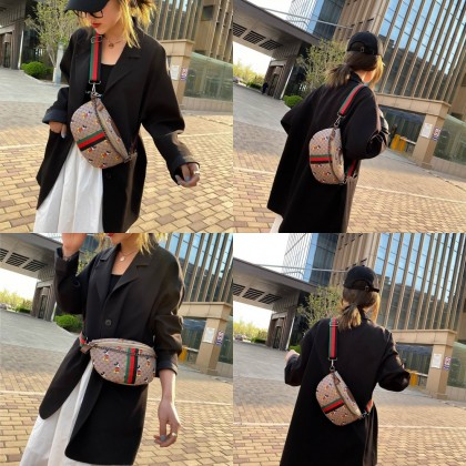 4GL 5484 GD MICKEY SLING BAG (LARGE) Crossbody Bag Sling Bag Chest Bag Waist Bag Beg A0817