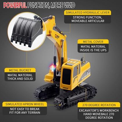 4GL POWER 5 CHANNEL & 6 Channel Die Cast RC Excavator Remote Control Car RC Car RC Truck 1:24 Kereta Control Jengkaut