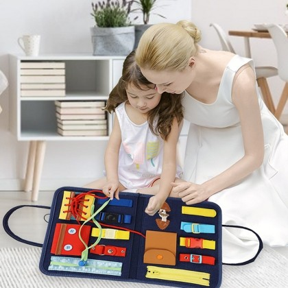 4GL BAG DESIGN Busy Board Montessori Toys Early Learning Toys For Kids Educational Toys For Kids Mainan Bayi