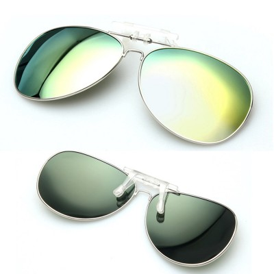 4GL CS01 Clip On Polarized Sunglasses Anti UV Glare (Style Aviator 3026)