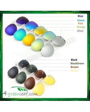 CS01 Clip On Polarized Sunglasses Anti UV Glare (Style Aviator 3026)