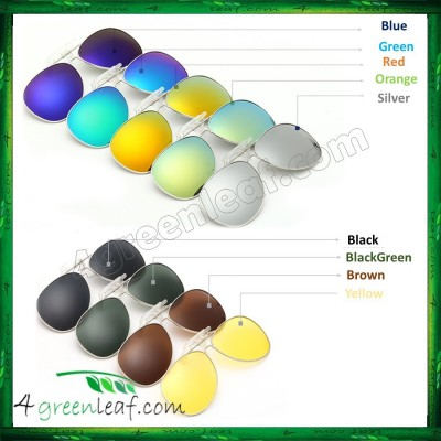 CS01 Clip On Polarized Sunglasses Anti UV Glare (Style Aviator 3026)