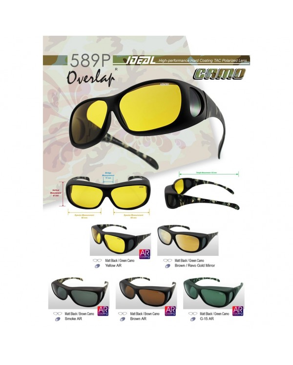 4GL Original Ideal 589P Camo Fit Over Overlap Polarized Sunglasses