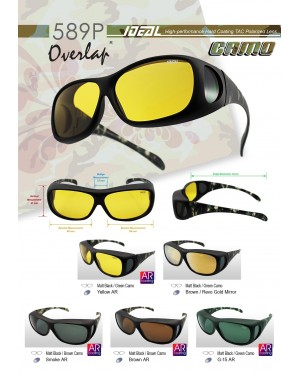Original Ideal 589p Camo Fit Over Overlap Polarized Sunglasses