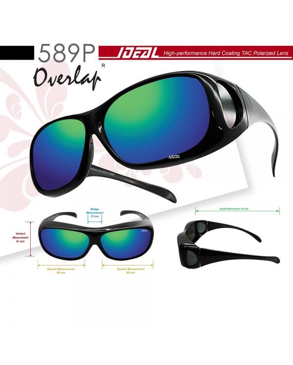4GL IDEAL 589P Fit Over Overlap Anti UV Glare Polarized Sunglasses Cermin Mata