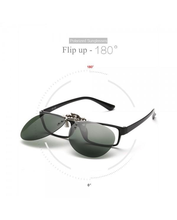 4GL CS03 Aviator Clip On Polarized Sunglasses