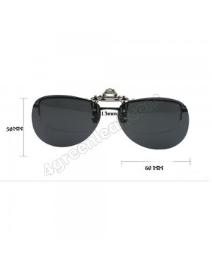 CS03 Aviator Clip On Polarized Sunglasses