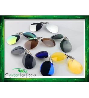 CS03 LIGHTZ Anti UV Glare Aviator Clip On Polarized Sunglasses