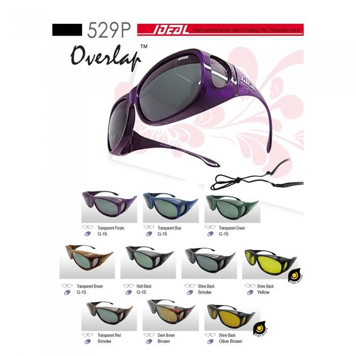 25b4355e964 4GL IDEAL 529P Fit Over Overlap Polarized Sunglasses