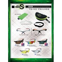 IDEAL ACTIV S 5 in 1 SPORT SUNGLASSES (TR-90 FRAME 3 POLARIZED LENS)