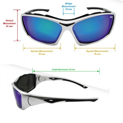 4GL Ideal 8888 Polarized Sunglasses Sports Wrap  (Adjustable Sunglasses Leg)