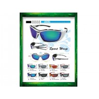 IDEAL 8888 Sports Wrap Polarized Sunglasses (Adjustable Sunglasses Leg)