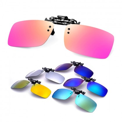 4GL CS04 Clip On Polarized Sunglasses Square Shape Sunglass Anti Glare UV400