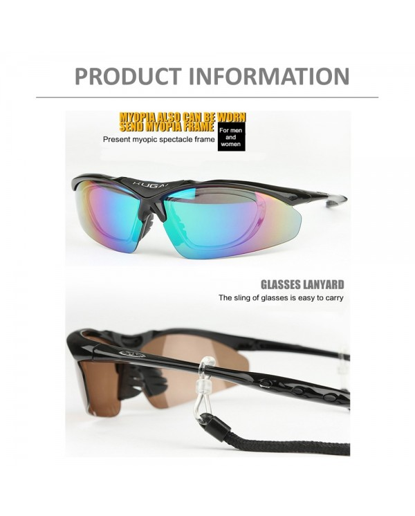 4GL KUGAI COOLCHANGE 0091 Cycling Sport 5 IN 1 Sunglasses Free TR90