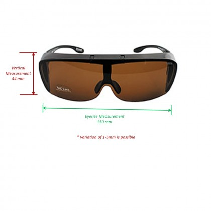 4GL IDEAL 8900 Flipper Fit Over Overlap Polarized Sunglasses