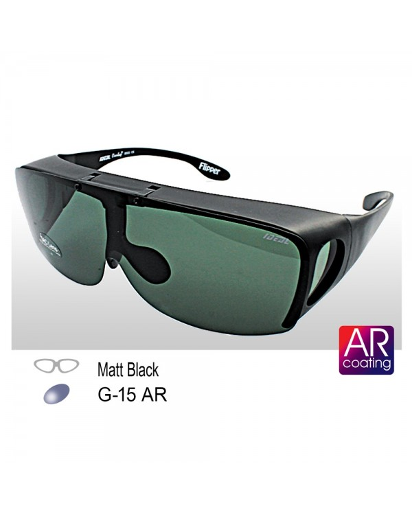 4GL IDEAL 8900 Flipper Fit Over Overlap Polarized Sunglasses