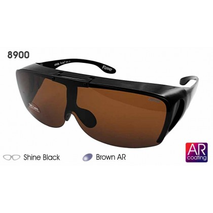 4GL Ideal 8900 Polarized Sunglasses Flipper Fit Over Overlap
