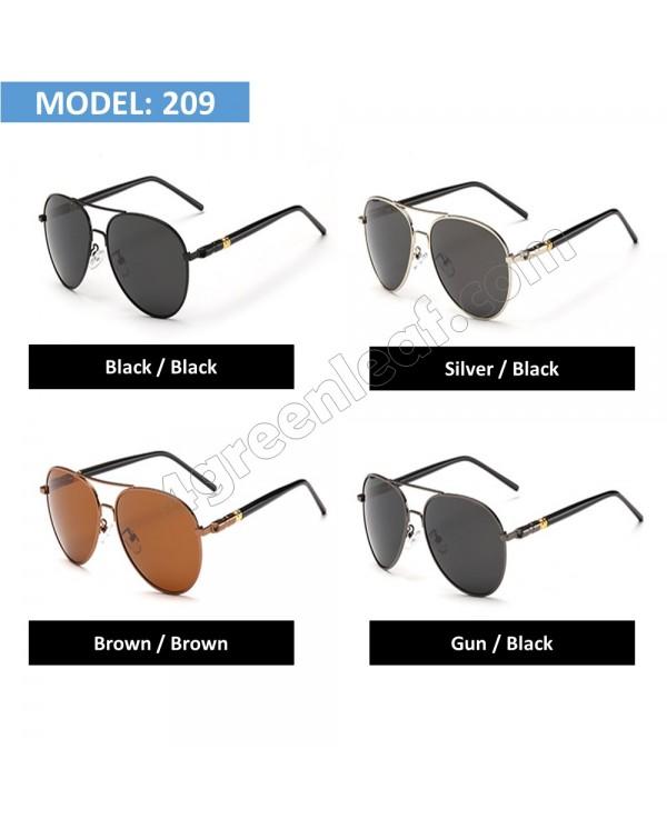 4GL MB209 Aviator Polarized Sunglasses Anti Glare UV 400 Protection