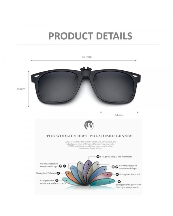 4GL CS08 Clip On Polarized Sunglasses