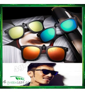 CS08 CLIP ON POLARIZED SUNGLASSES WAYFARER 2140 INSPIRED