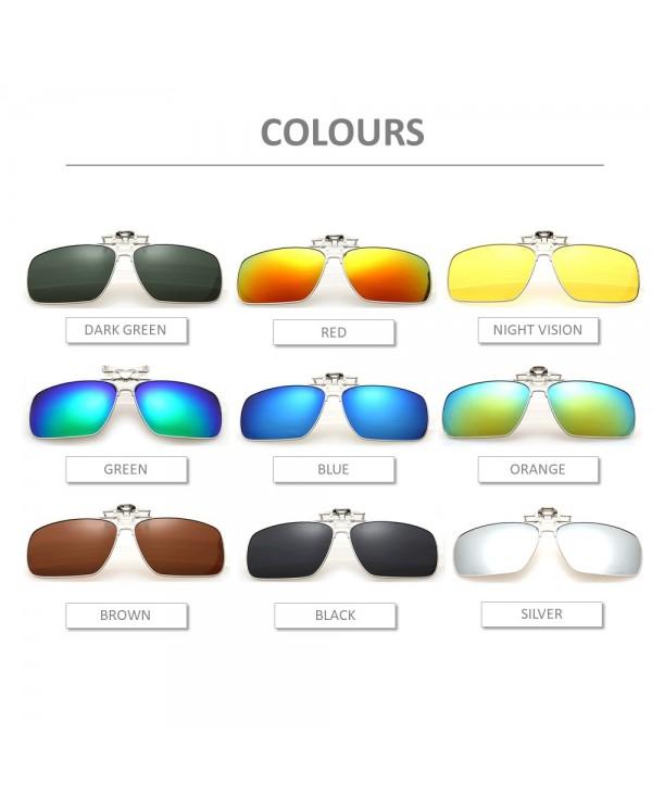 4GL CS02 Square Aviator Frame Clip On Polarized Sunglasses