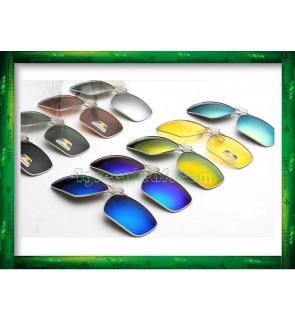 CS02 Square Aviator Frame Clip On Polarized Sunglasses