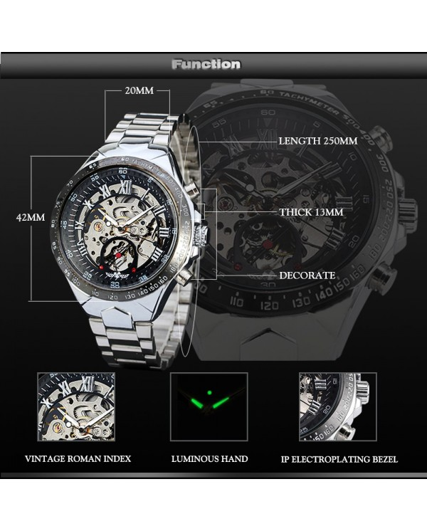4GL WM02 Original Winner Automatic Mechanical Movement Watch