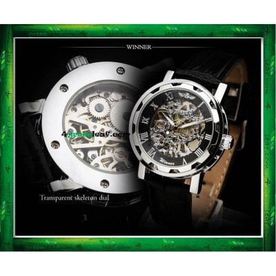 WM04 Original Winner Self Wind Mechanical Movement Watch (No Battery)