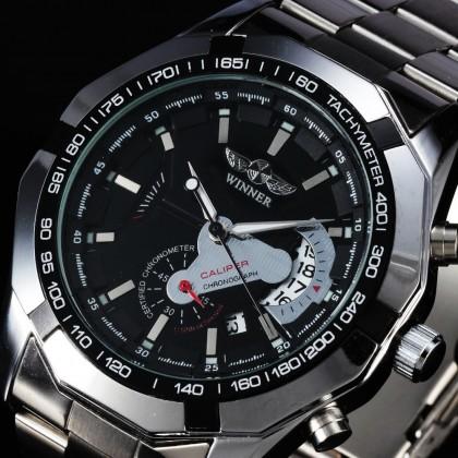 4GL WM05 Original Winner Automatic Mechanical Movement Watch (No Battery)