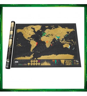 Scratch Off Large Deluxe World Map - Personalized Travel Map Poster