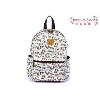 Queen And Cat Waterproof Dream Catcher Backpack