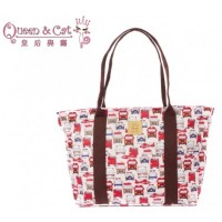 Queen And Cat Waterproof Large Shoulder Bag