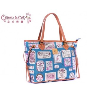 Queen And Cat Waterproof Lady Tote Bag