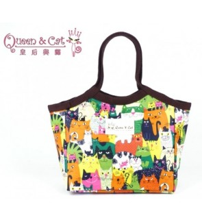 Queen And Cat Waterproof Small Lady Bag with Buckle