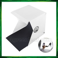 Mini Portable Photography Photo Studio Light Tent LightRoom Light Box Kit with LED Light: Foldable Led Light Tent+ Two Blackgrounds(White and Black)