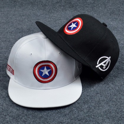4GL Captain America Snapback Cap Baseball Hat Marvel