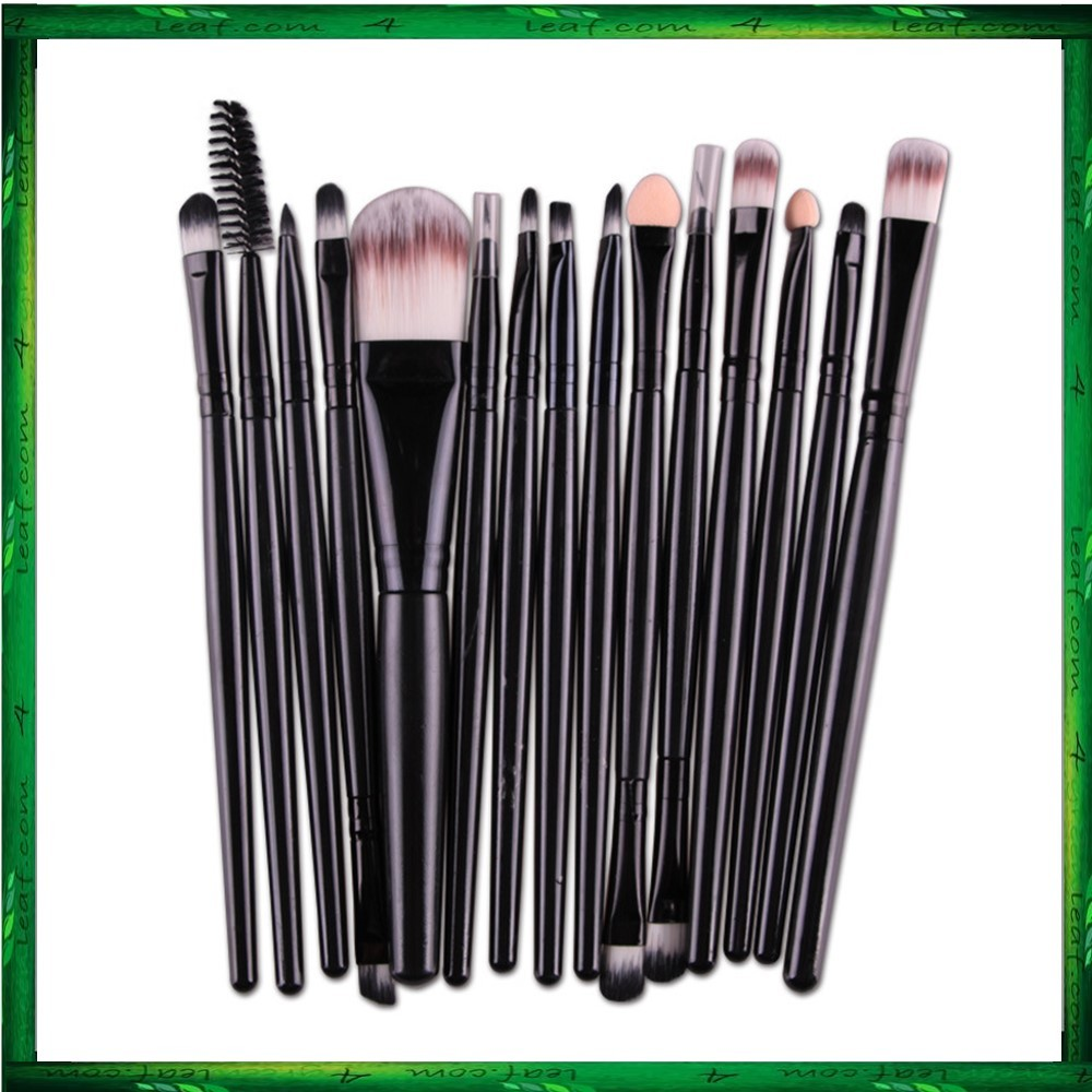 Maange 15 Pcs Makeup Brushes Cosmetic Powder Foundation Make