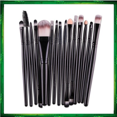 Maange 15 Pcs Makeup Brushes Cosmetic Powder Foundation Make Up Brush Set