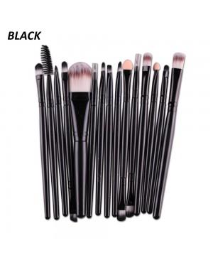 Maange 15 Pcs Makeup Brushes Cosmetic Powder Foundation Make Up Brush Set