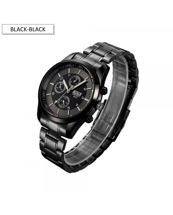 4GL BOSCK Men's Business Casual Sports Steel Waterproof Watch 8251