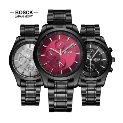 4GL BOSCK Men's Business Casual Sports Steel Waterproof Watch 8251