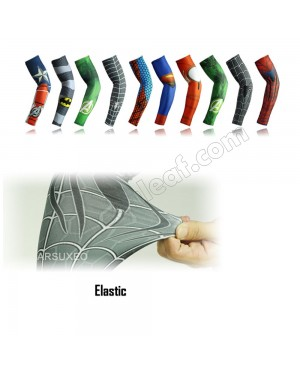Superhero Breathable Sport Cycling  Arm Sleeves Warmer Breathable UV Protection