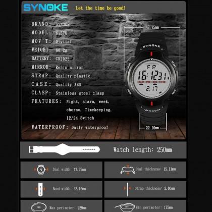 4GL Synoke 61576 Fashion Men Sport Watches LED Digital Watch Jam Tangan