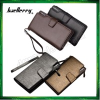 Baellerry Handphone Men Women Wallet Long Purse Leather S119B Bag