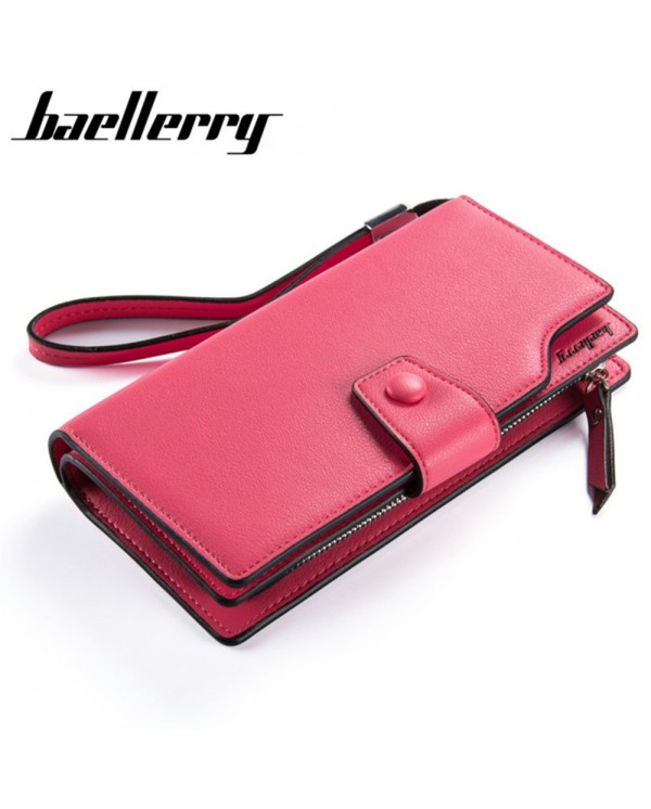 4GL Baellerry Purse Long Zipper Clutch Wallet Wristlet N6048